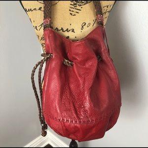 THE SAK SCARLET LEATHER BUCKET BAG